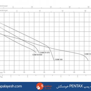نمودار یک نمونه پمپ PENTAX خودمکش